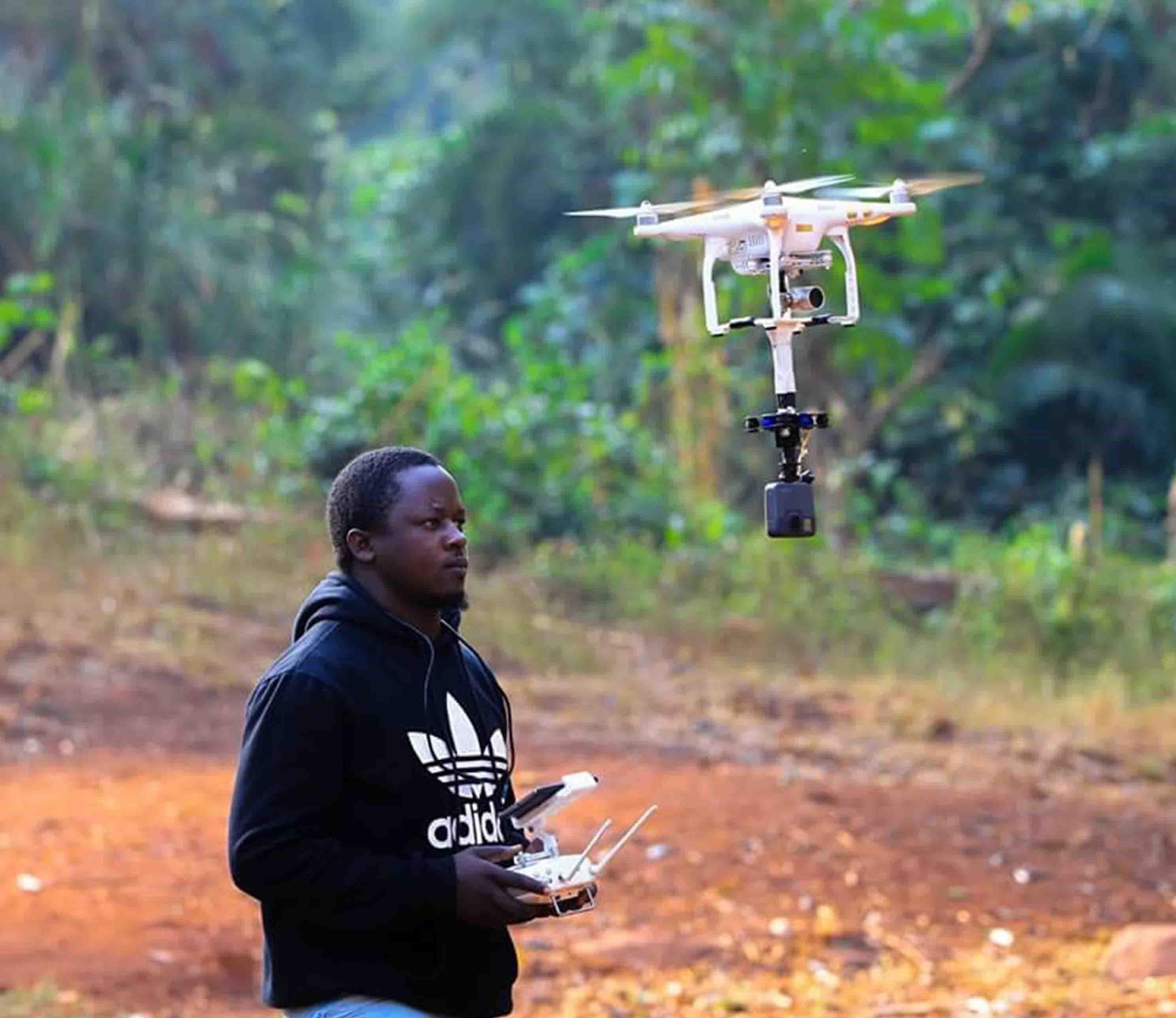 Film Crew Fixer, hiring drones in Uganda